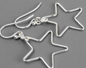 Sterling Silver Star Earrings, Everyday Earrings, Astrology Earrings, Best Friend Gift