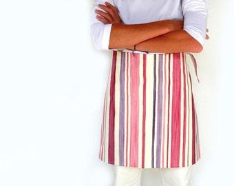 Apron  - Pink to violet stripes - kitchen accessories