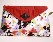 Crimson n' Poppies envelope clutch purse (limited edition) - Catalina range