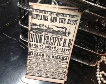Railroad favor tags-train tags-Train cards-Wedding wish tree tags-wedding favors
