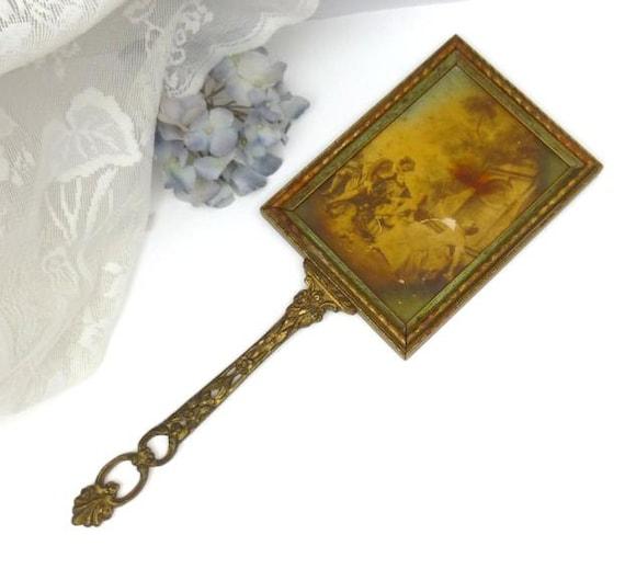 Large Vintage Hand Held Mirror Vintage Vanity Mirror