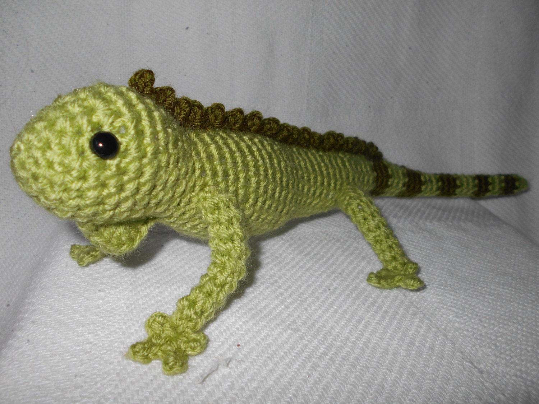 Green iguana crochet planetjune lizard reptile cute zoom bankloansurffo Images