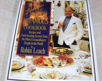 The Lifestyles of the Rich and Famous Cookbook  Robin Leach HC DJ 1992 SIGNED Free Shipping