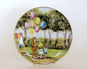 Balloon Man by Dominic Mingolla Collector Plate 1979, Decorative Collectibles Plate, Calhoun's Collectors Society