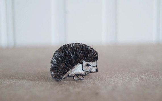 CLEARANCE Hedgehog Ring, Shrink Plastic Ring, Woodland Charm, Animal, Beast, Lightweight Brass Ring