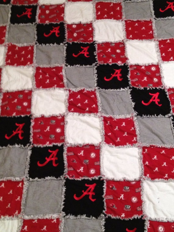 Items Similar To Alabama Football Embroidered Flannel Rag