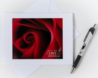 Anniversary Card - Photography Card - Anniversary - Greeting Card - Stationery - Typography - Love - You are the love - Romantic Card