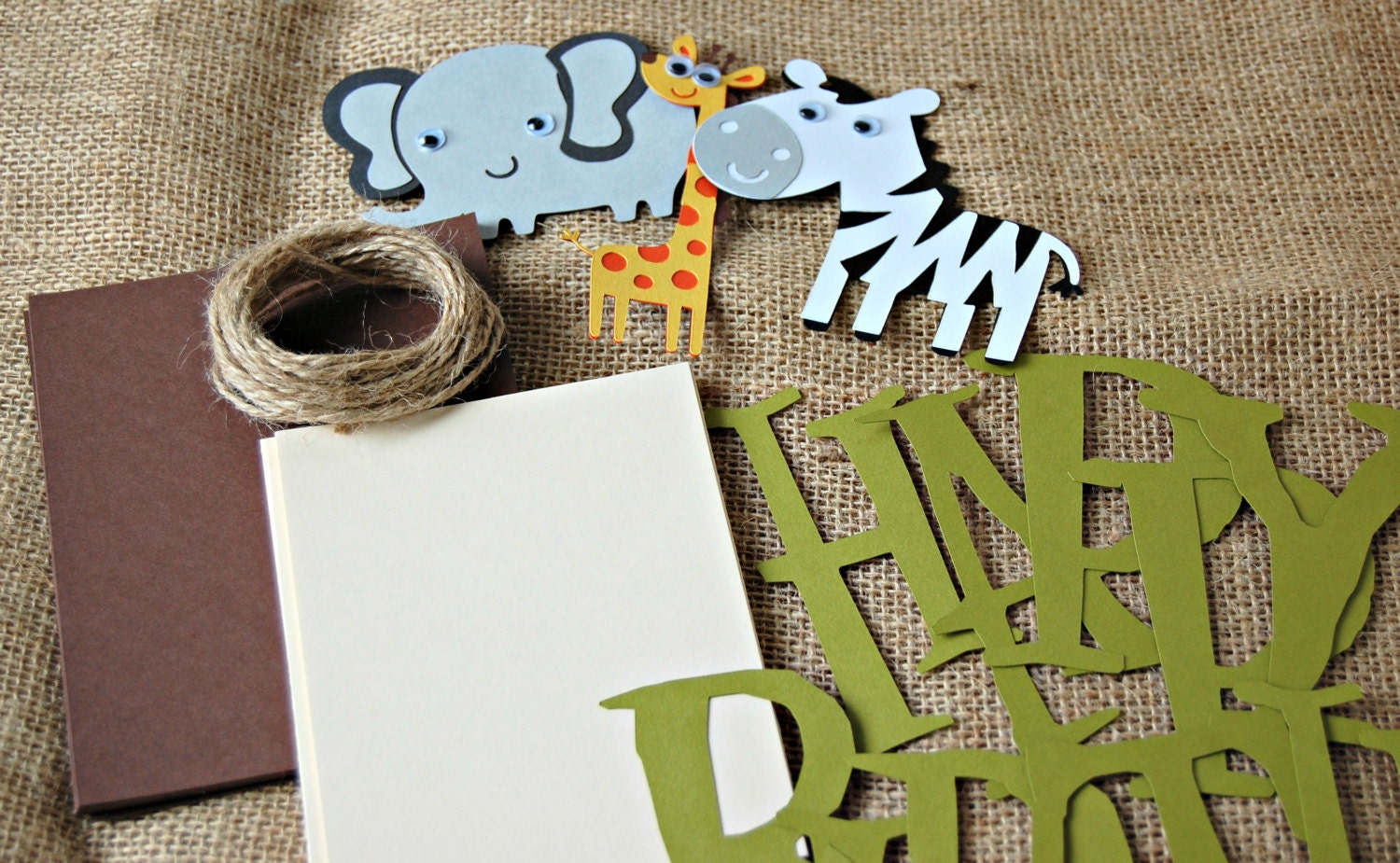 DIY Jungle Happy Birthday Banner Do-It-Yourself by ...