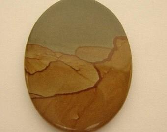 Landscape Jasper 30 x 40 mm Oval Cabochon