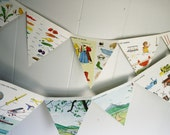 500 Words to Grow On Vintage Book Bunting// nursery decor// baby shower decor// made to order, choose your color