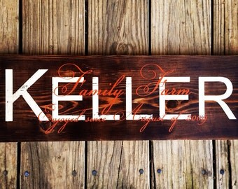Family established sign. Cedar name plaque