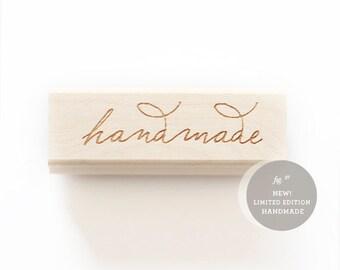 Handmade lettered rubberstamp