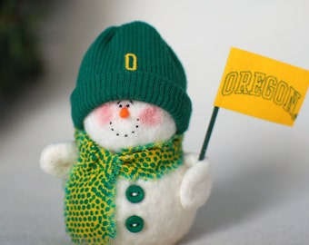 Oregon Ducks Snowman Ornament