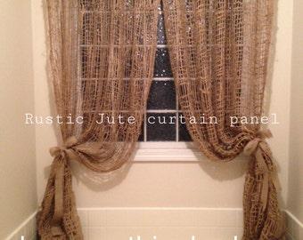 Jute Curtain Panel