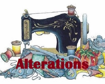 Alterations to shorten the knickers pants