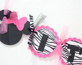 Minnie Mouse Baby Shower Banner //  It's a girl // Minnie Mouse // Baby Shower // Decorations // pink and black //  It's a girl banner