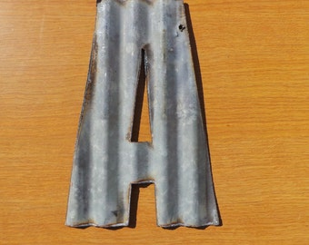 "10""  Corrugated Metal Letters A-Z  and Numbers 0-9 FREE SHIPPING"