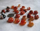 Red Agate Beads - Banded Faceted
