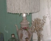 RESERVED For L.....One of a Kind Simply Charming Unique Tea/Coffee pot Lamp, French Country,French, Shabby Chic,Eclectic