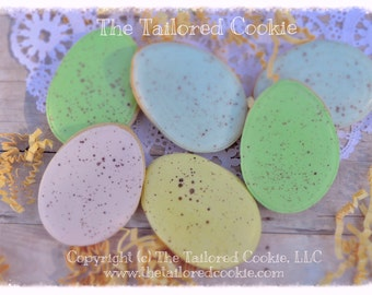 Decorated Easter Egg Cookies, Easter Cookies, Green, Pink, Blue, Yellow