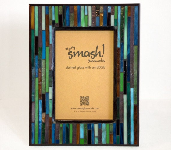 stained glass mosaic picture frame balsa. Black Bedroom Furniture Sets. Home Design Ideas