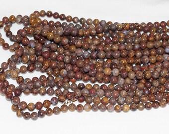 "Pietersite (Tempest Stone) 8mm Round Gemstone Beads - 15.75"" Strand"