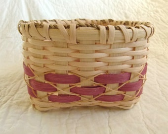 Small reed basket, catch-all basket.  Good basket for Easter centerpiece.