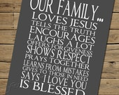Our Family - Word Art - digital printable