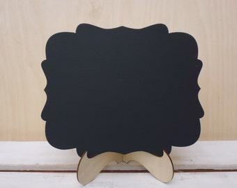 2 Chalkboards with Stand Wedding Wooden Chalk Board Wedding Signs with Holder Photo Prop Menu Table Centerpiece