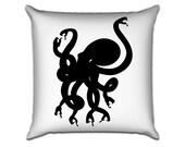 "Snaketopus - Original Illustration Sofa Throw Pillow Envelope Cover for 18"" inserts"
