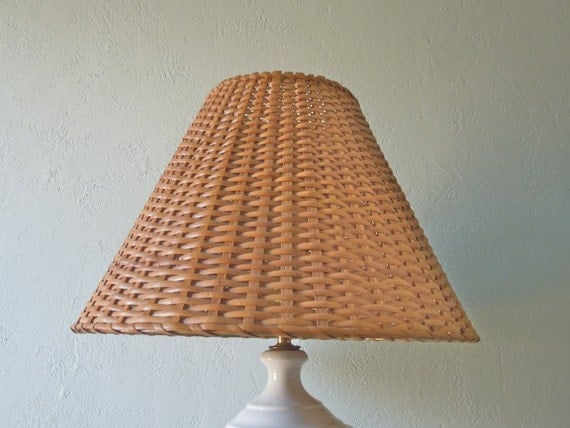 Vintage Wicker Lampshade Large Wicker Lamp Shade