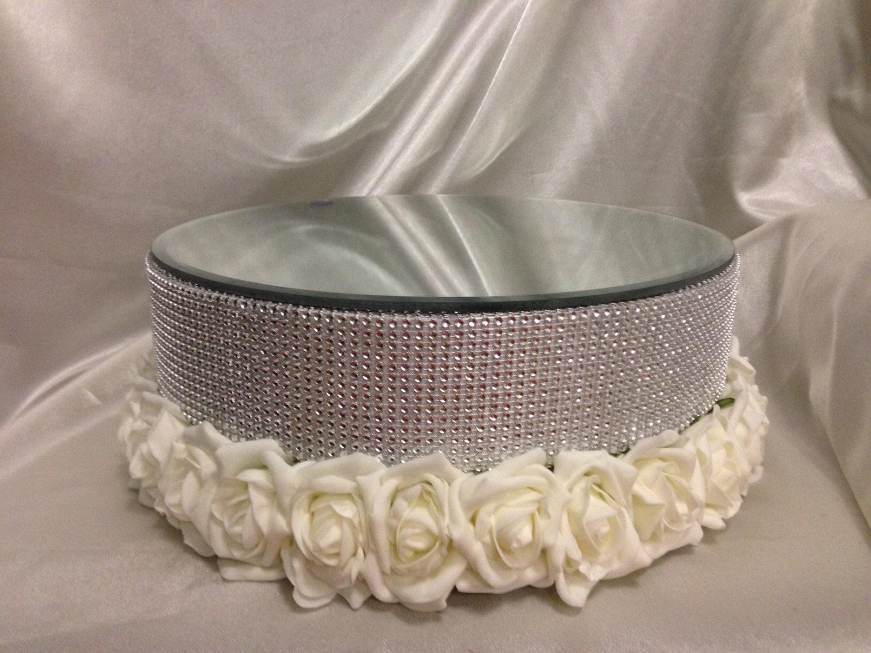 Rose rhinestone design cake wedding cake stand Swarovski