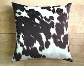 Cowhide Pillow - Faux Cowhide - Western Cowboy Southwest
