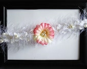 Mohair and Pearls Pink Couture Headband - Photography Prop - newborn, baby, child, adult - summer, special occasion