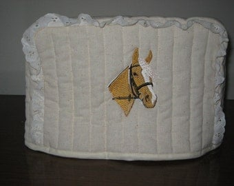 4 Slice Square Toaster Cover Horse Design