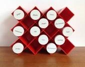 Vintage Copco Honeycomb Spice Rack by Lubge-Randel, Red - HotCoolVintage