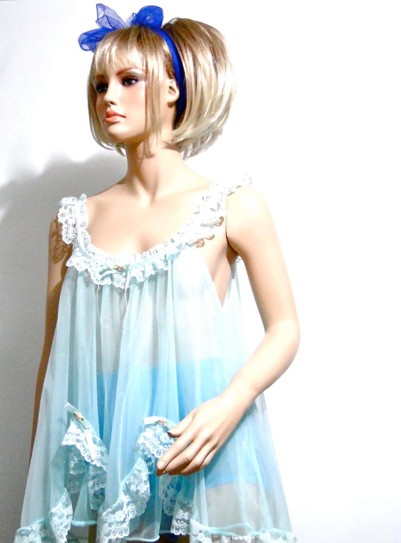 1960s Lingerie Baby Doll Vintage Nightie