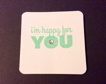 Mini Cards with Fun Sayings and Bling - Set of 4