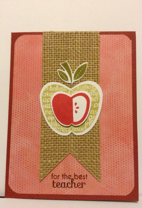 Teacher Card with Apple