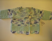 SALE*** Long Sleeve Baby Sweater by Angel Kisses  NB-3M Minty Blue
