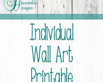 Individual Wall Art Prints- Choose Individual Prints from any Decorable Designs Wall Art Package