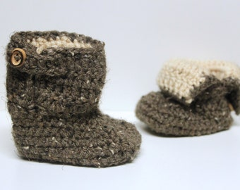 Toddler Boots, Crochet Flap Boots, Toddler Fold Over Boots, Toddler Booties, Made to Order
