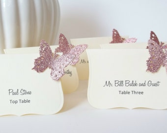 Butterfly Wedding Decorations , Event Place Cards, Wedding Escort Cards , Butterfly Place Card, by Lilly Things