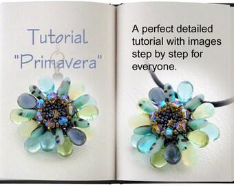 Jewelry tutorial .... Primavera... Pendant fresh and fine.
