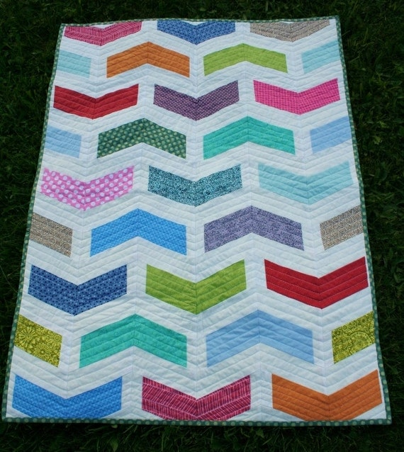Chevron QUILT PATTERN in 2 Sizes Instant Download by ...