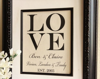 LOVE Cotton Print for Couples or the Whole Family