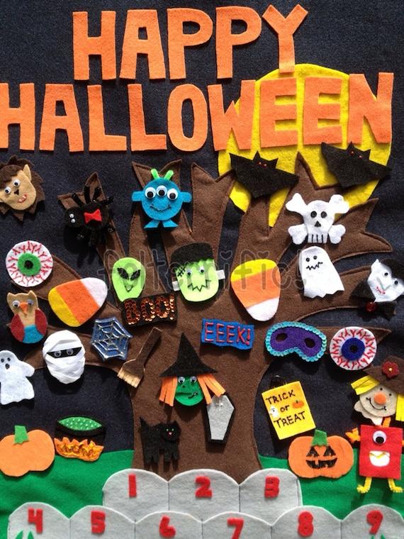 Handmade Felt Halloween Countdown Calendar