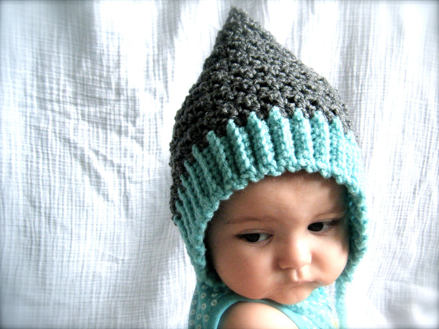 Free Crochet Pattern For Gnome Hat : PATTERN: Seedling Pixie Bonnet baby hat 3 Sizes easy