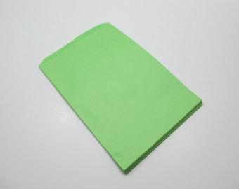 50 Lime Green 6x9 Paper Gift Bags, Merchandise Bags, Favor Bags, Weddings, Showers, Birthdays, Treats