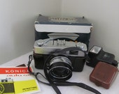 Vintage 1965 Konica Auto S2 Hexanon in Original Box and Owners Manual